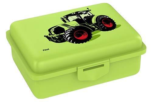 Fizzii Lunchbox (Inkl. Obst-/ Gemüsefach, schadstofffrei, spülmaschinenfest, Motiv: Trecker)