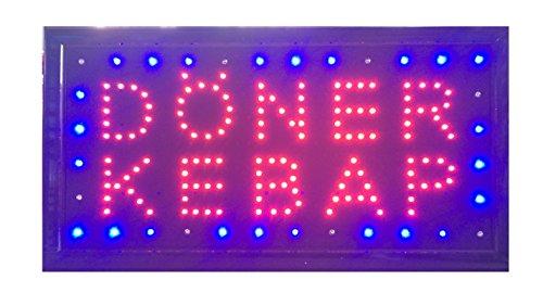 LED Schild Curry Wurst Döner/Kebap Kaffee Nails Bar Leuchtreklame Display Werbung NEU!!! (Döner/Kebap)
