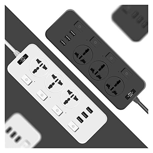 SPFCJL Adaptador de zócalo UE UE UE AU Placa de alimentación Placa de alimentación 3 Extensión USB Enchufe de zócalo 2.1A Carga rápida y 3 enchufes (Color : T14 White, Standard : UK Plug)