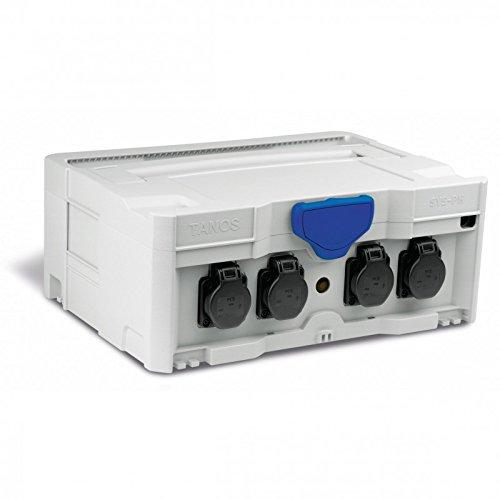 TANOS Stromverteiler SYS-PH systainer® T-loc II lichtgrau 80101809 Kabeltrommel