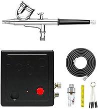 ABEST Tragbarer Dual Action Mini Air Kompressor Airbrush Kit für Make-up Kunst Malerei..