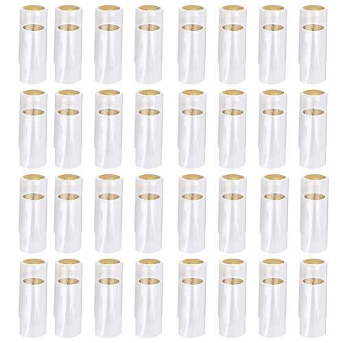UPKOCH 100 Stück PVC-Schrumpfkapseln Weinschrumpffolie Weinflaschenkapseln Schrumpfkappen für Weinkeller Und Heimgebrauch Klar 30Mm