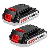 2X Hochstern LBXR20 20V 3000mAh Remplacement batterie pour Black et Decker LB20 LBX20 LST220 LBXR2020-OPE LBXR20B-2 LB2X4020 LST220 Outil électrique sans fil