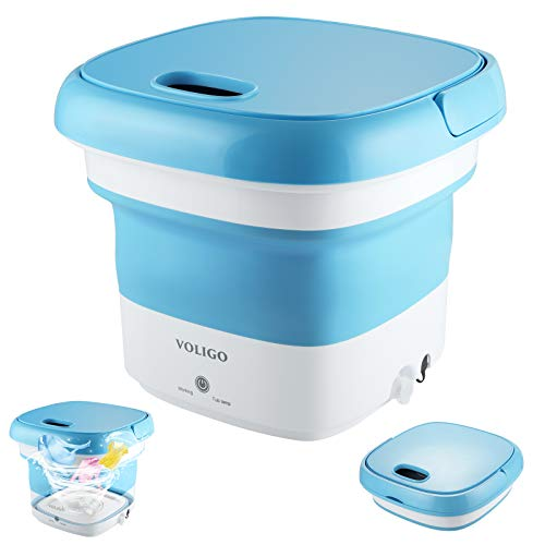 Portable Mini Washing Machine for Clothes, Folding Automatic Laundry Machine, Lightweight Washer Travel Laundry Washer for Travelling, Apartment Dorm, Gift for Friend or Family (Blue)