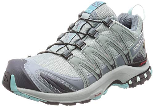 Salomon Damen Trail Running Schuhe, XA PRO 3D GTX W, Farbe: türkis (lead/stormy weather/meadowbrook) Größe: EU 43 1/3