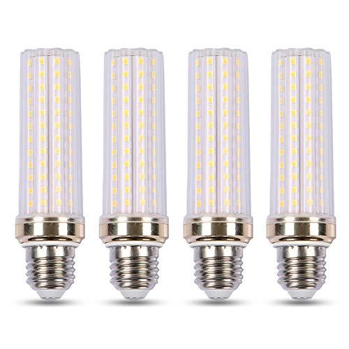 Bombilla LED 3000K Luz Calida, 2000LM, E27 20W Equivalente a Incandescente de 150W, 230V, No Regulable, Bombilla Maiz LED E27 para Lámpara de Pie/de Techo, pack de 4