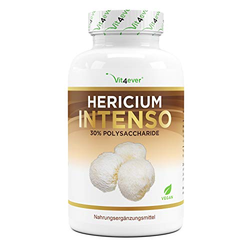 Hericium Erinaceus Pilz - 1300 mg pro Tagesportion - 120 Kapseln - Premium: 30% Polysaccharide & 5%...