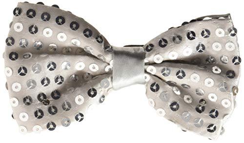 Dress Up America Noeud papillon à sequins avec lumières clignotantes LED , Petites 4-6 ans (taille 74 cm , hauteur 109 cm) , Argenté-Argent ,