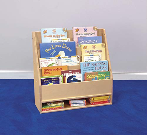 Childcraft Toddler Book Display with Dry-Erase Panel, 3 Shelves, 24 x 9 x 24 Inches