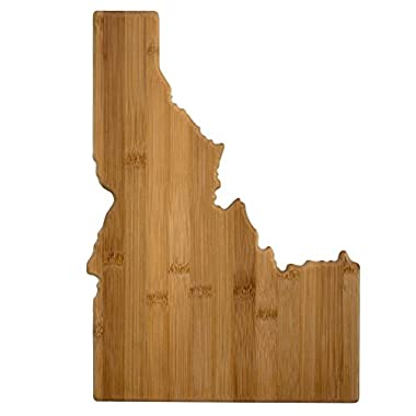 Totally Bamboo Idaho State Shaped Bamboo Serving and Cutting Board