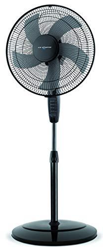 Air Monster® Ø 40 cm Standventilator mit 45 Watt Leistung   Ventilator im 5 Flügel-Design mit Oszillation, Höhenverstellung und 3-Leistungsstufen (Schwarz)