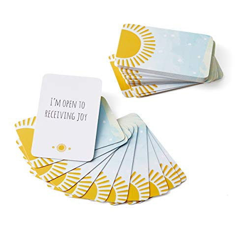 May You Find Joy : Mini Deck Card Set - 42 Positive Action Cards to find and create joy in everyday, Inspirational Self Care Gifts for Women, Meditation Gifts and Conversation Starters