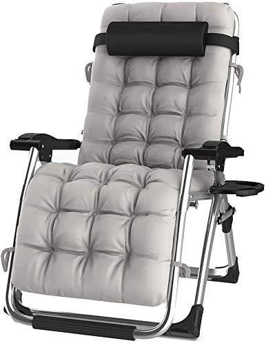 Xiesheng Liegestuhl Klappbar Gartenstuhl Sonnenliege Heavy Duty Zero Gravity Lehnstuhl Sonnenliege Stühle Klappliegestühle Adjustable Garten Außenterrasse Liegestuhl Sling-Stuhl (Farbe: C)