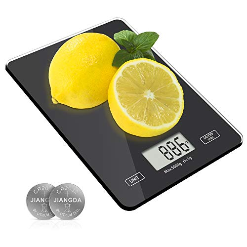 Digital Kitchen Weighing Scales, Meromore Food Scales with Tempered Glass...