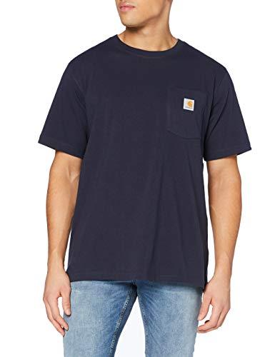 Carhartt Pocket Short-Sleeve T-Shirt, Navy, L Uomo