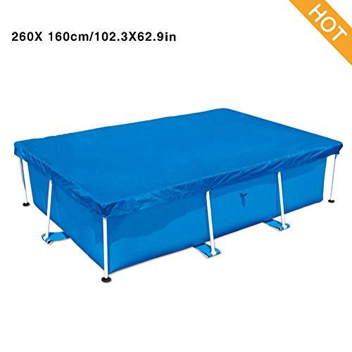 Cubierta De Piscina Azul Polvo Duradera para Resistente A La Lluvia Ajuste Rápido Piscinas Acero Rectangulares Pro, 220 150 Cm, 260 160 Cm, 300 200 Cm, 400 211 Cm