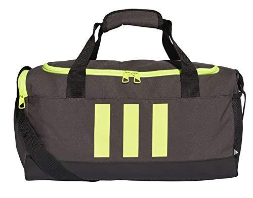adidas GN2043 3S DUFFLE S Gym Bag unisex-adult dgh solid grey/black/solar yellow NS