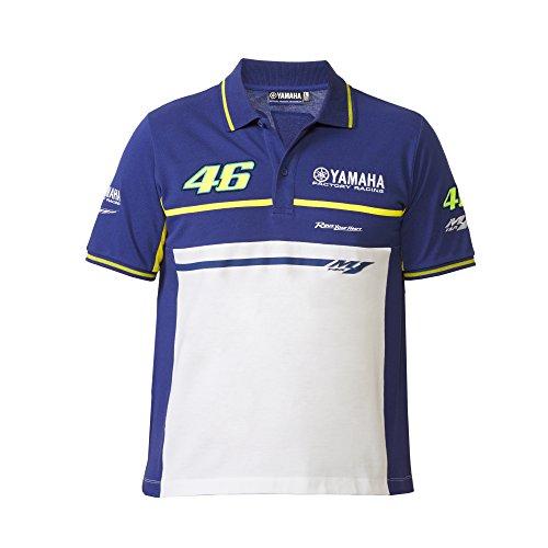 Yamaha Valentino Rossi VR46 X Polo de Manga Corta Camisa Azul y ...