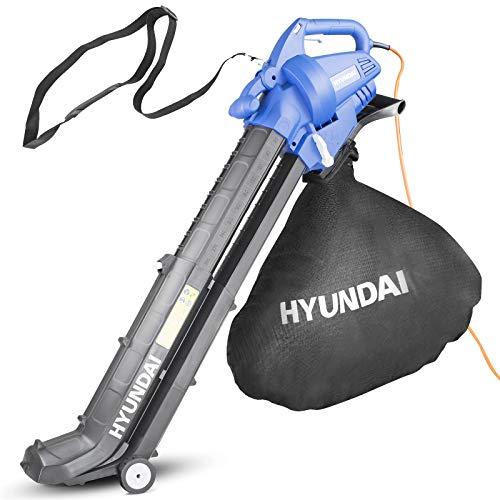 Hyundai HYBV3000E 3 in 1 3000W Electric Leaf Blower Vacuum & Shredder Lightweight & Powerful Long 12...