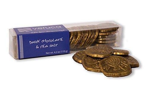 Hanukkah Gelt Coins Dark Chocolate Sea Salt - Nut Free - Non Dairy - Kosher