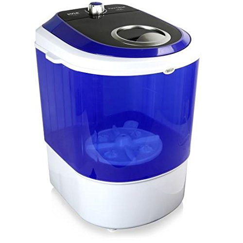 Pyle Upgraded Version Portable Washer - Top Loader Portable Laundry, Mini Washing Machine, Quiet Washer, Rotary Controller, 110V - For Compact Laundry, 4.5 Lbs. Capacity, Translucent Tubs