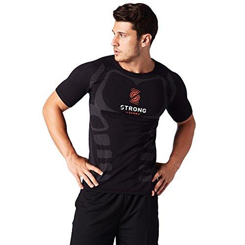Zumba Fitness Hombre Strong by Zumba Seamless Top Hombres Tops, Todo el año, Hombre, Color Bold Black, tamaño Small