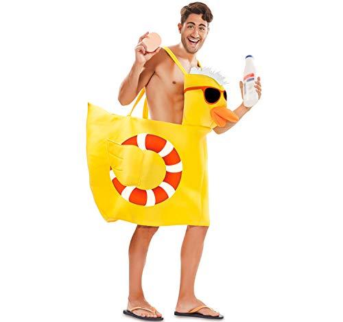 EUROCARNAVALES Disfraz de Patito de Baño Amarillo para Adultos