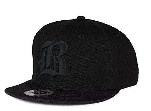 Cappello da baseball, chiusura posteriore regolabile, motivo 3D: B gotica in rilievo, da hip-hop multicolore B Black Black Regular