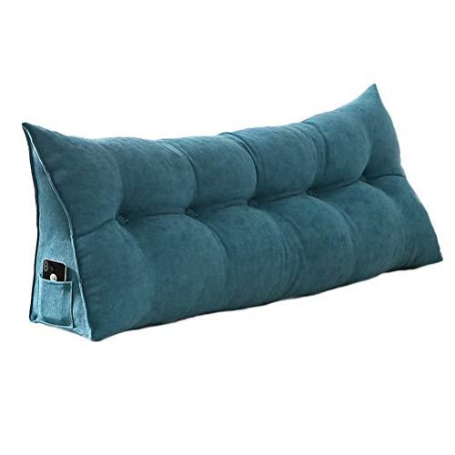 三角枕 腰クッション 背もたれ 低反発 腰痛対策 姿勢矯正 ウェッジクッション ヘッドボード 読書枕 取り外し可能な洗える 80*50*20cm
