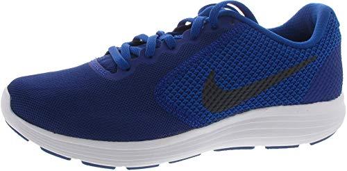 NIKE Revolution 3 - Zapatillas Deportivas, Hombre, Azul - (Deep Royal Blue/Obsidian-Blue Jay-White)