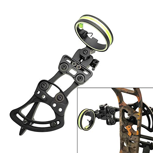 perfk Micro Adjust 5 Pin .019 Compound Bow Archery Sight Short Pole Camo//Black