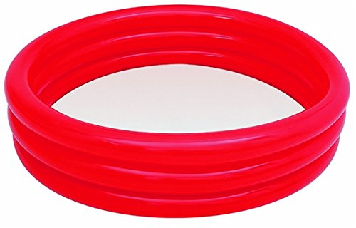 Best Sporting Pool Planschbecken, 122 x 25 cm oder 183 x 33 cm, blau, grün oder rot (rot, 122x25)