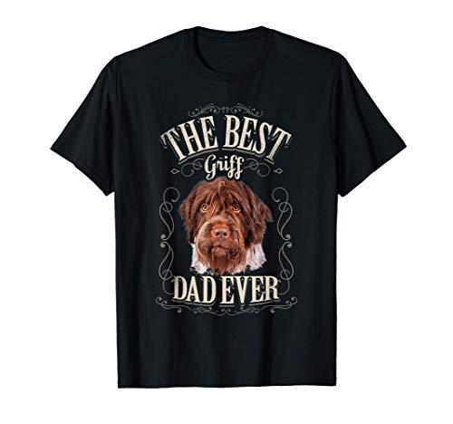 Hombre Best Griff Dad Ever Grifón Korthals Perro Hombre Vintage Camiseta