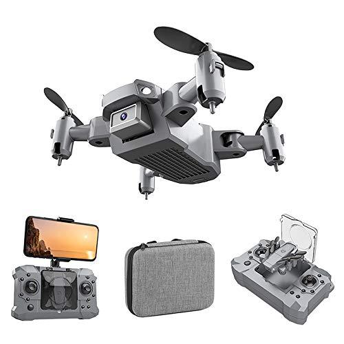 DEBEME Mini-Drohne, tragbarer Faltbarer Quadcopter, 2,4-GHz-Sechsachsen-Gyroskop, 1080p / 4k-HD-Kamera , Unterstützt VR 3D Experience und LED-Leuchten, Mehrere Flugmodi