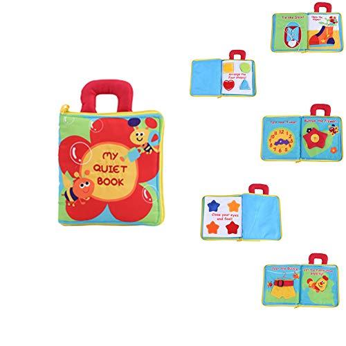 Hztyyier Libro de Tela Infantil, Bebé Infantil Inteligencia de Desarrollo Libro de Tela Suave Aprendizaje temprano Juguete Educativo