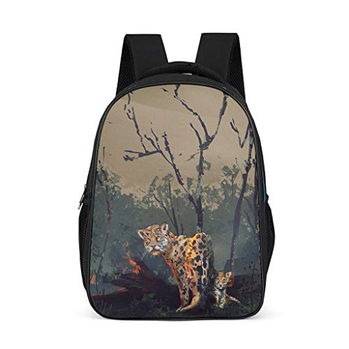 Wilderness Tiger Lightweight Backpack for Teens Adults School Bags for Boys and Girls Gifts for Kids Book Bag Bright Gray OneSize