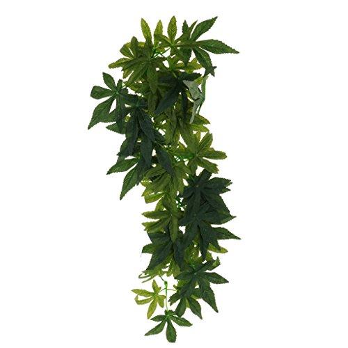 petsola Terrarium Pflanzen Künstlich Hängepflanze Kunststoffpflanze - Typ 2, 50 cm
