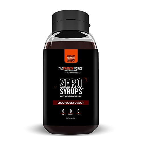 THE PROTEIN WORKS ZERO SYRUPS | Calorie Free, Sugar Free, Carb Free, Fat Free, Guilt Free Dessert Topping Sauce ChocFudge, 600 ml