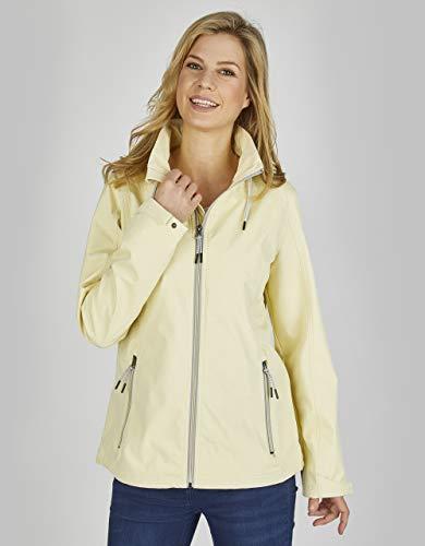 Eibsee by Adler Mode Softshell-Jacke in sommerlicher Farbe Gelb/Weiß 46
