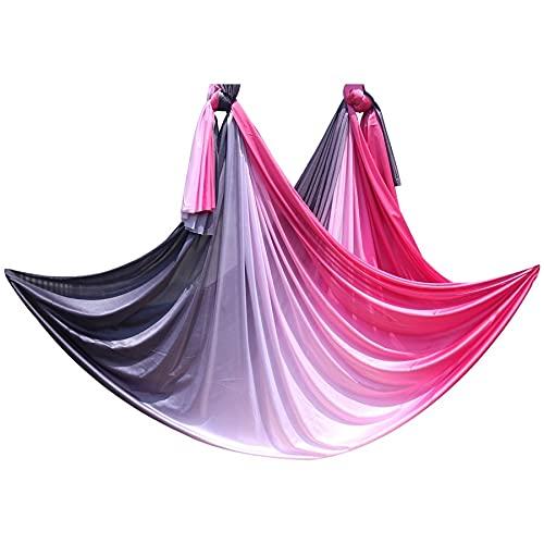 Linyuex Set de Hamaca de Yoga aérea 5Mx2.5M Cinturones de Yoga Anti Gravedad para el Ejercicio de Yoga Bed Swing Trapeze (Color : Style F)