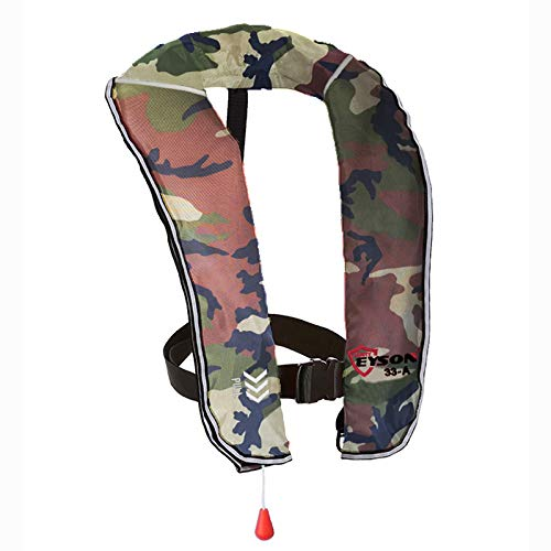 Eyson Inflatable Life Jacket Inflatable Life Vest for Adult Classic Automatic (White Camouflage)