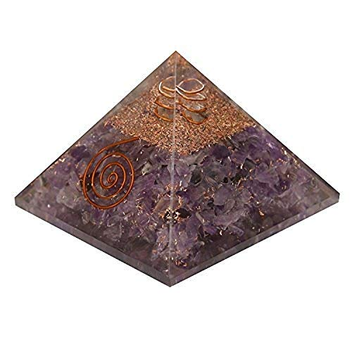 5Elements Premium Energy Generator 7 Chakras Orgone Pyramid for EMF Protection Chakra Healing Meditation with Copper 3 and 3 Inches