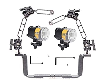 Dual Sea and Sea YS-D2J - Mounted on a Ocean Tray Arm Kit Light Set by Mozaik