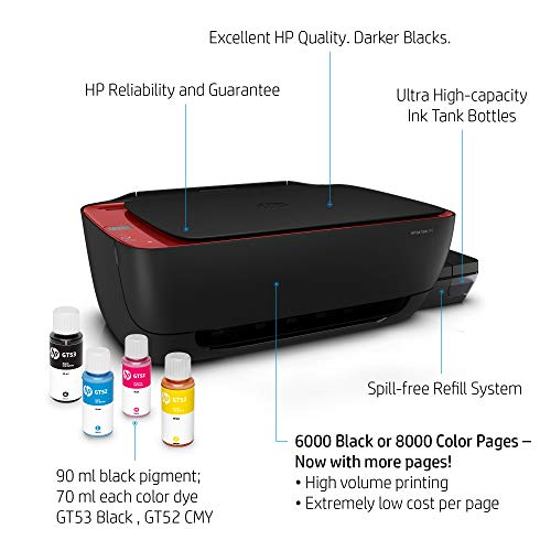 HP Ink Tank 316 Colour Printer, Scanner and Copier for Home/Office, High Capacity Tank (7500 Black and 8000 Colour), Per Page (10P for B/W and 20P for Colour), Borderless Printing