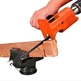 Sierra de sable profesional con accesorio de lima de metal, sierra de calar modificada para el corte de madera de taladros con juego de 3 hojas de sierra