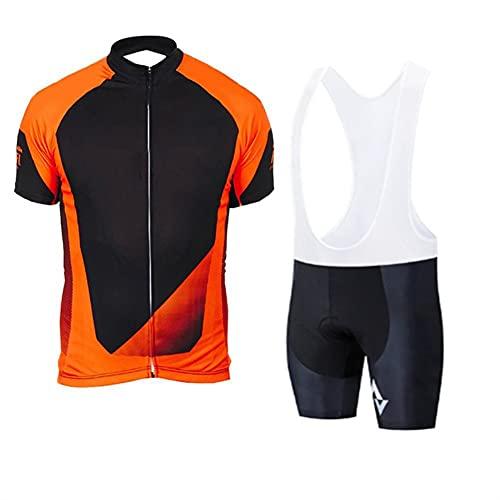 WDJZ - Set di 4 maglie da ciclismo da uomo a maniche corte, traspiranti, per mountain bike, abbigliamento da ciclismo