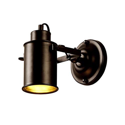 Unbekannt Wandleuchten Wandleuchte - 5W Schlafzimmer Nachttischlampe - LED Wandleuchte Antik Eisen Wandleuchte Lesewandleuchte Flurleuchte (Farbe : Warmes Licht)