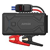 Arteck 1200A Peak Portable Car Jump Starter (Up to 7.0L Gas or 5.5L Diesel Engine) QDSP Auto 12V Battery Pack Booster and QC3.0 External Battery Charger for Automotive, Motorcycle, Boat, Smart Phone