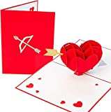 PopLife Cupid's Heart 3D Pop Up Valentine's Day Card - Happy Anniversary Gift for Her, Just Because, Date Night, Mother's Day for Wife - for Girlfriend, Fiance, Husband, for Him