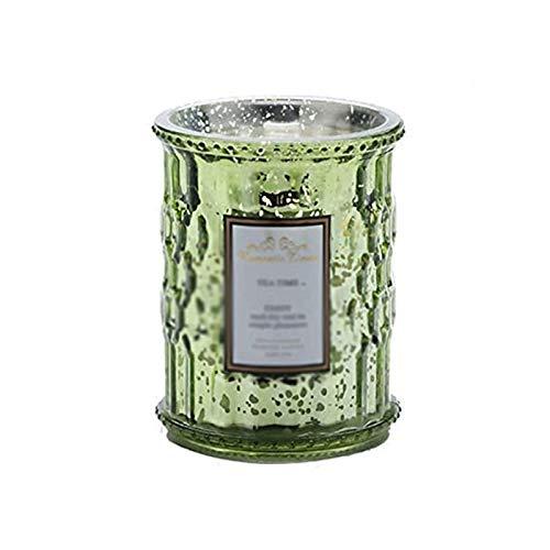 ZXJ Velas perfumadas, Plantas, Aceite Esencial, Cera de Soja Natural, Calma sin Humo, Vela de Vidrio de Cristal aromático para el día de San Valentín,Verde
